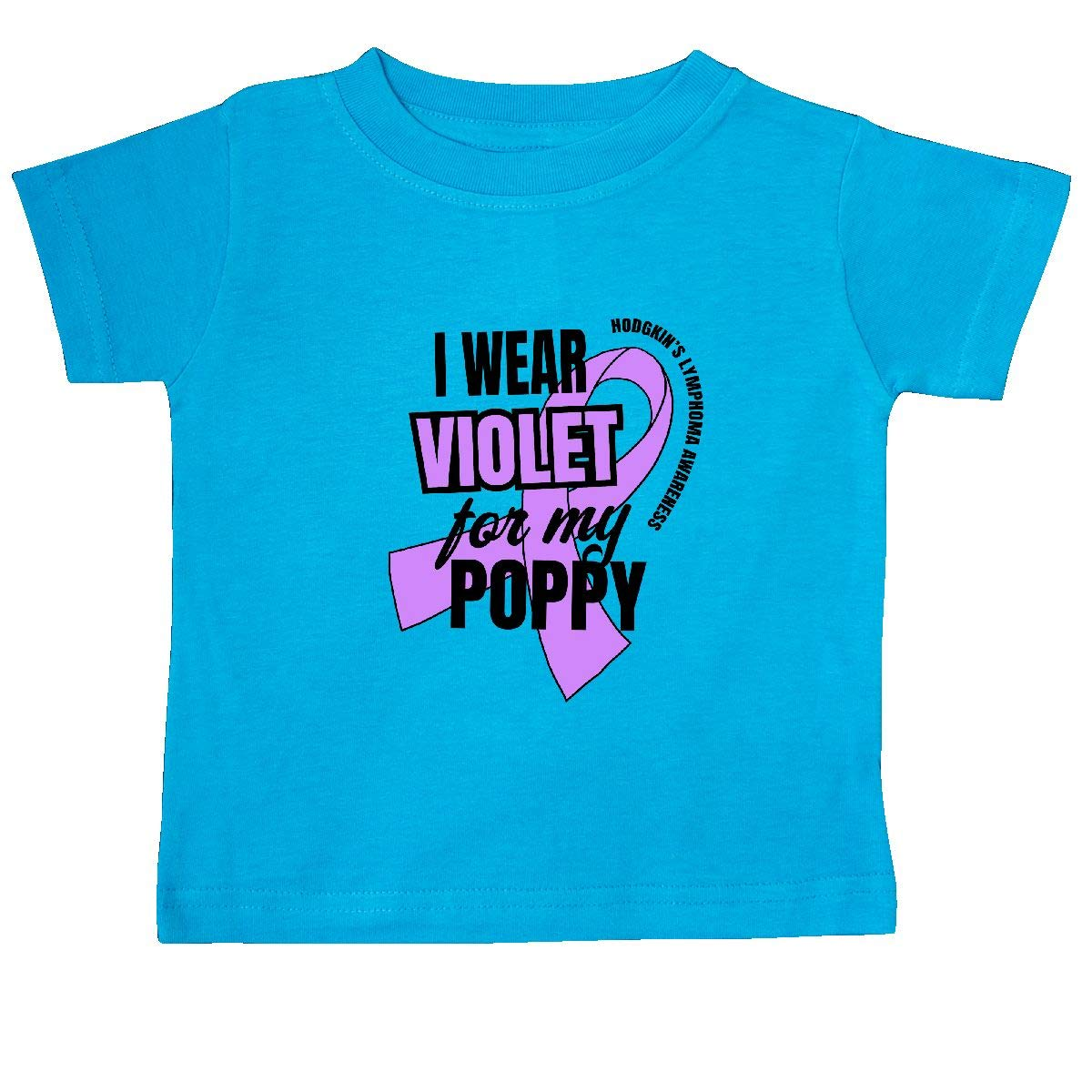 inktastic I Wear Violet for My Poppy Hodgkins Lymphoma Awareness Baby T-Shirt