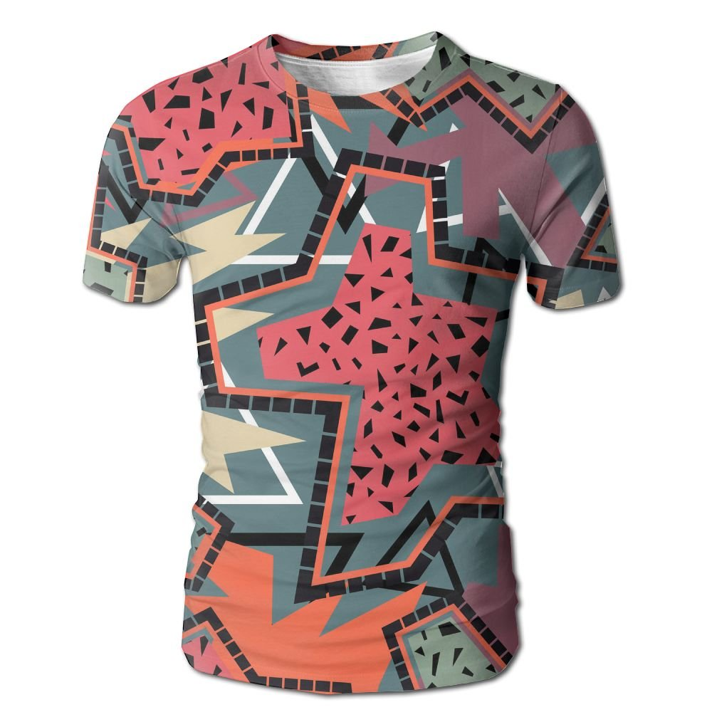 XIA WUEY Abstract Geometric Art MensClassic Baseball Tshirt Graphic Tees Tops For Hiking