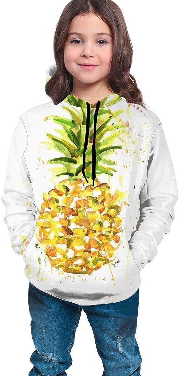 Kjiurhfyheuij Teen Pullover Hoodies with Pocket Pineapple Soft Fleece Hooded Sweatshirt for Youth Teens Kids Boys Girls