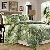 Tommy Bahama Cuba Cabana 4 Pieces Full Queen Comforter Set - Tropical Palm Leaf Design
