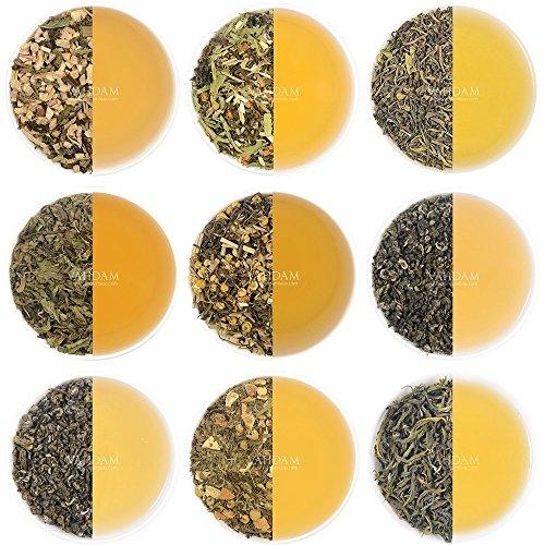- VAHDAM, 10 GREEN TEA SAMPLER, 50 cups Assorted Tea–Green Tea Loose Leaf with Premium Ingredients - Natural Weight Loss Tea, Detox Tea, Slimming Tea - Green Tea Variety Pack, Loose Tea Sampler Gift Set