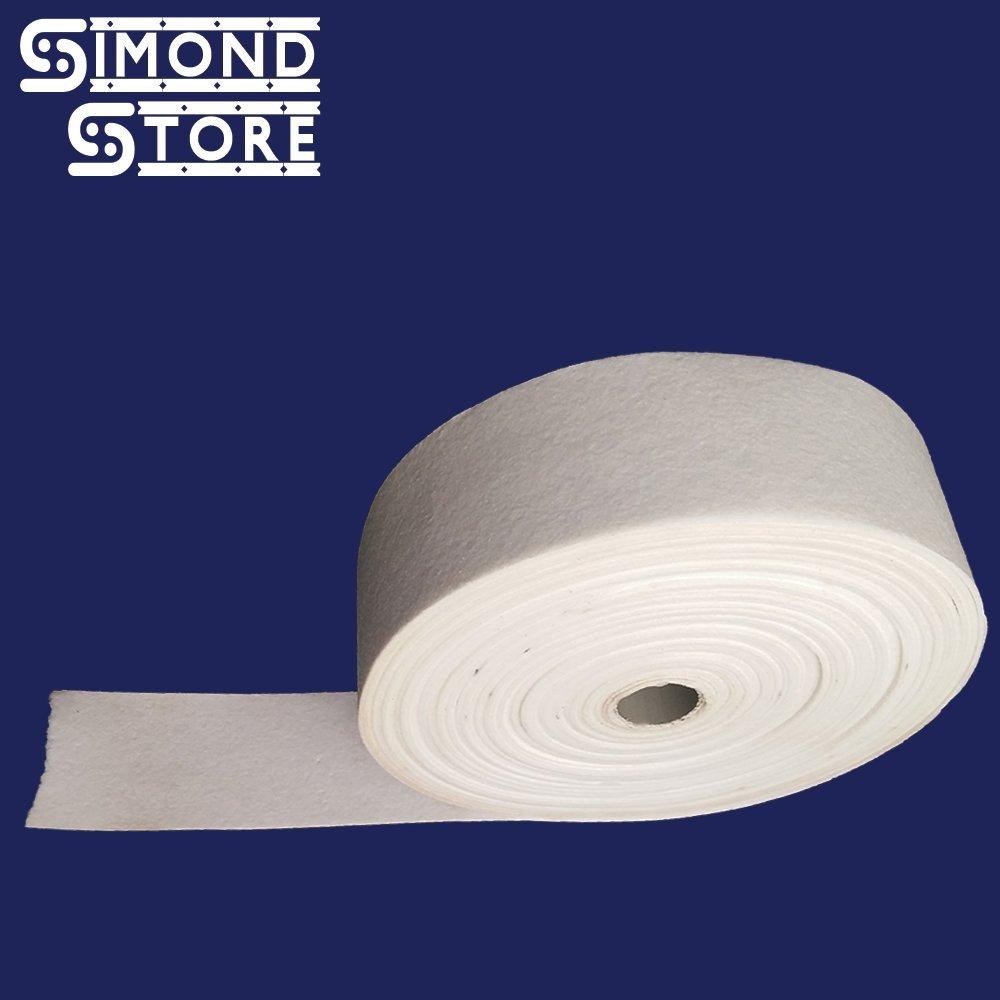 Simwool Ceramic Fiber Paper Tape (2300F, 1mm Thick) (2'' x 50')