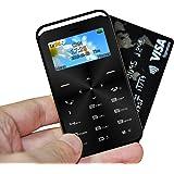 SKYSHOP GS6 World's Smallest, Lowest Radiation Slim Credit Card Size Phone Mobile (Black)
