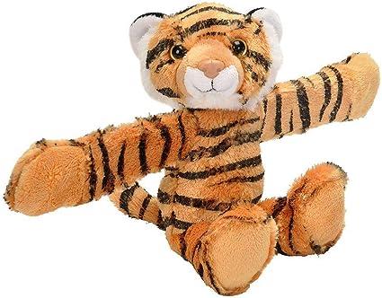 Best Stuffed Animals For Boy, Amazon Com Wild Republic Huggers Tiger Plush Toy Slap Bracelet Stuffed Animal Kids Toys 8 Inches Toys Games