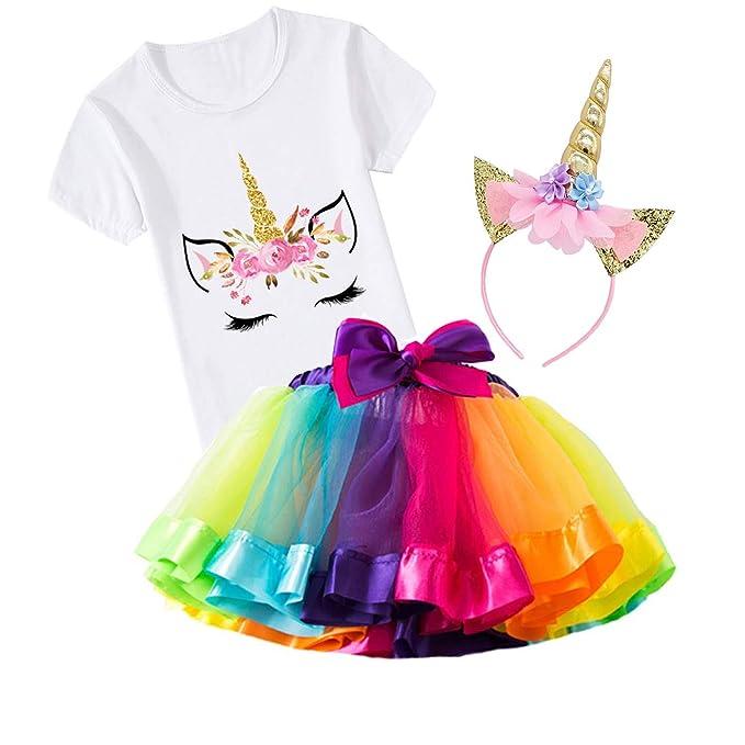 Amazon.com: Conjunto de 3 piezas de disfraz de unicornio ...