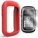 TUSITA Funda con Protector de Pantalla para Garmin eTrex 10 20 20X 30 30X - Funda Protectora de Silicona Skin - Accesorios de Mano GPS Navigator (Rojo)