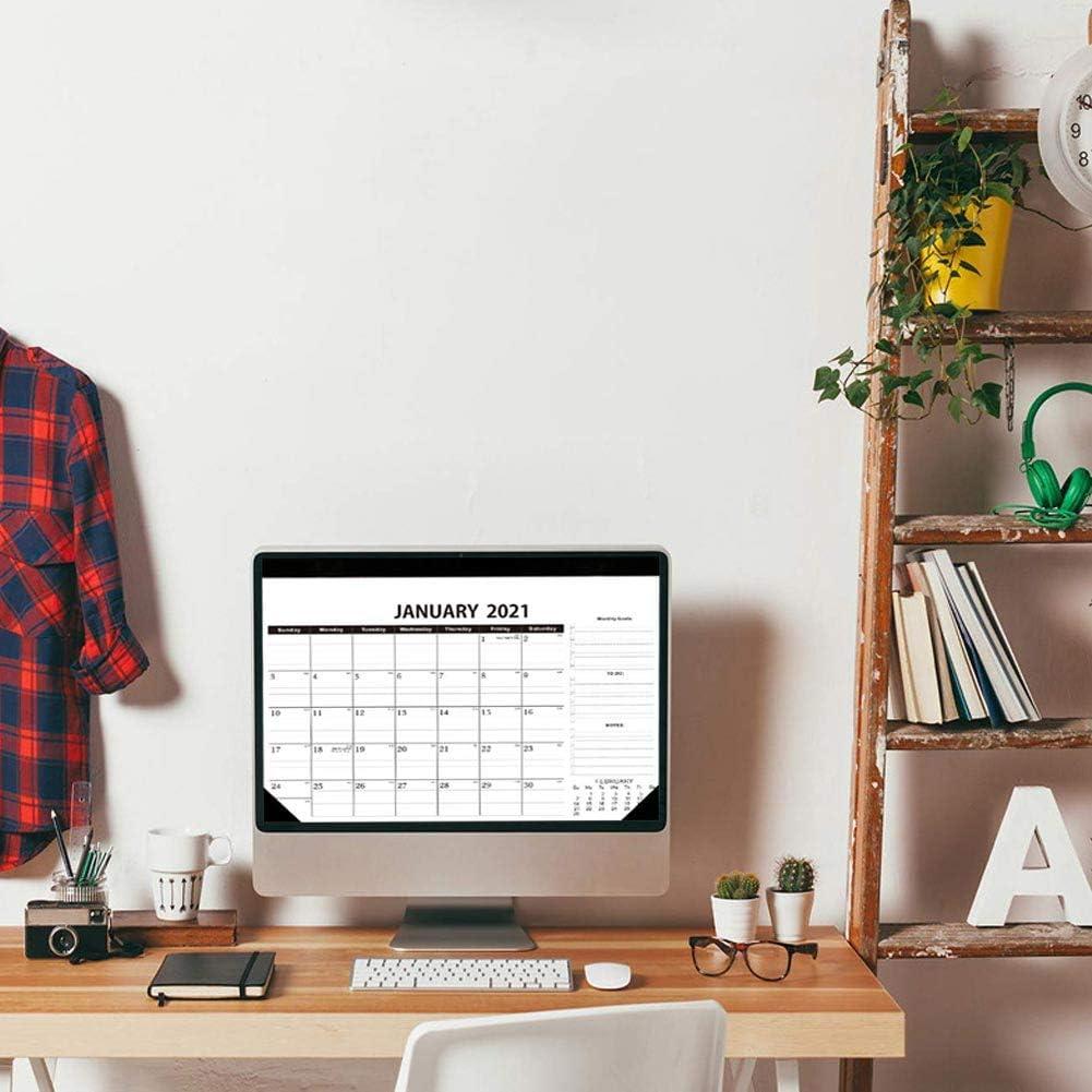 18 pagine mensili con gancio per appendere e spazio giornaliero a righe con festeggiate 30,5 x 43,2 cm Calendario da scrivania 2021 2022 agenda da parete