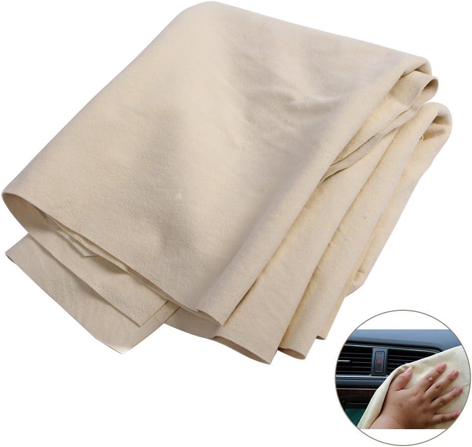 Panno in pelle per auto,WINOMO Panno di pulizia e lucidatura di auto 37 x 25cm