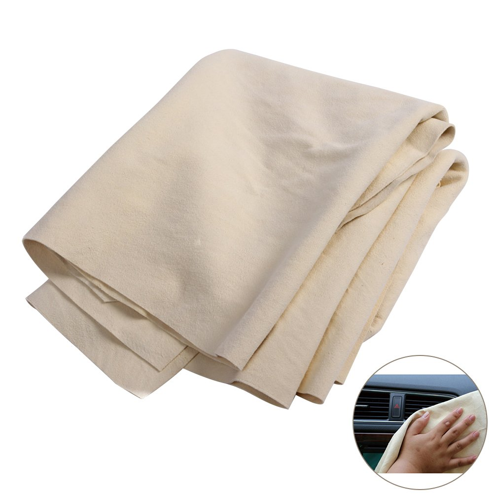 WINOMO Chamois Leather Towel Water Absorption Window Cleaning Towels for Car Home Office