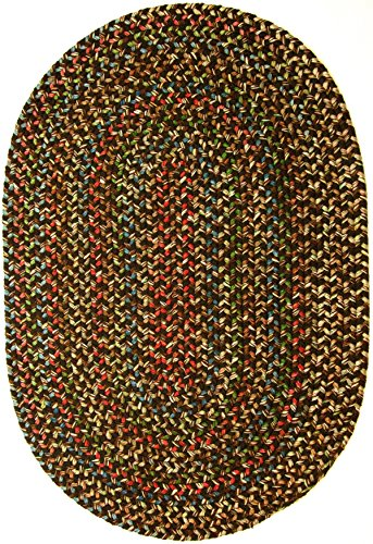 RRI Home Decor  Katherine Multi Indoor/Outdoor Oval Braided Rug, 3 by 5-Feet, Brown