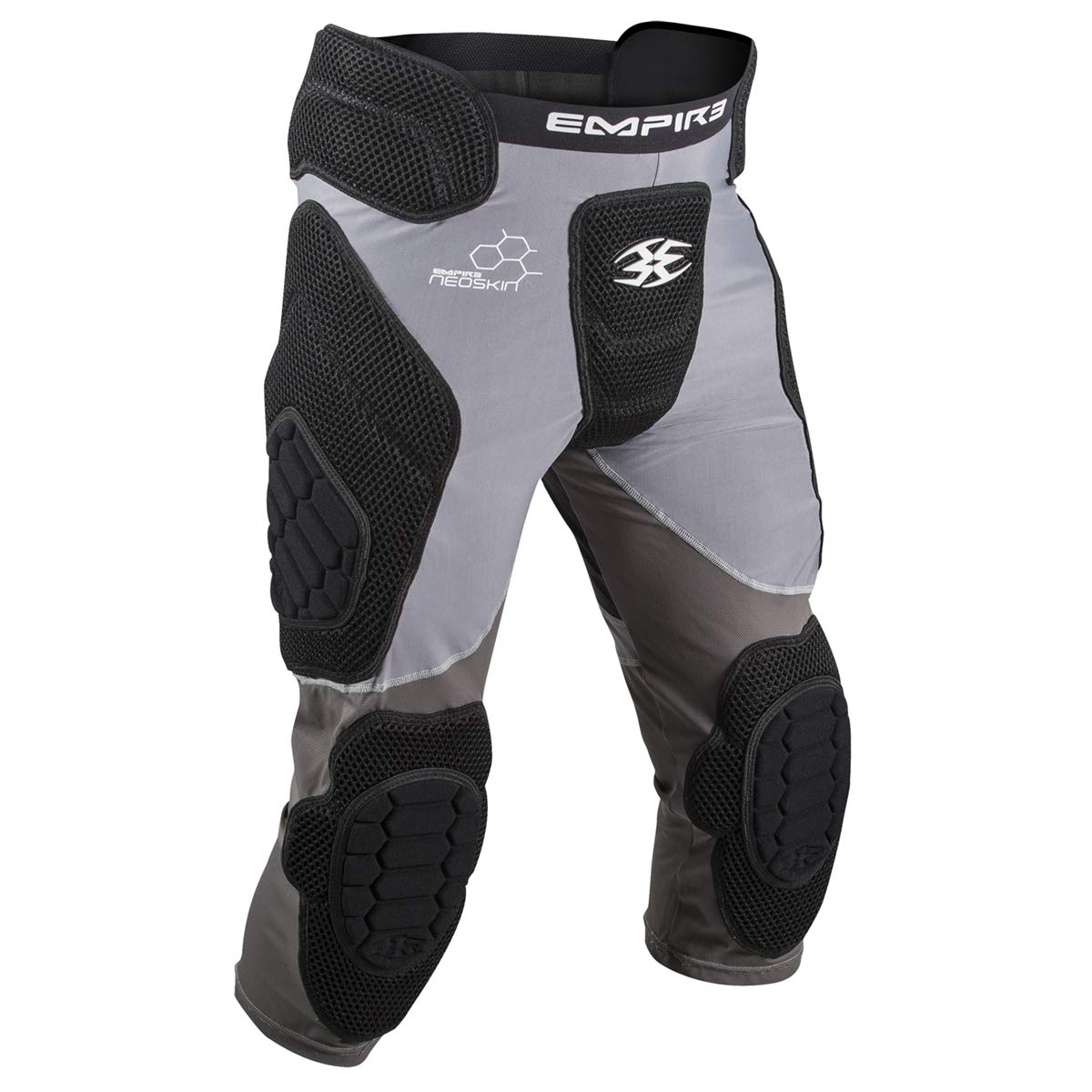 Empire Paintball Neoskin Slide Short W/Knee Pads - Black/Grey (Youth) by Empire