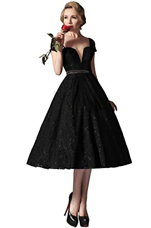 eDressit Black Lace Vintage Prom Dress Formal Gown (04145200) at ...