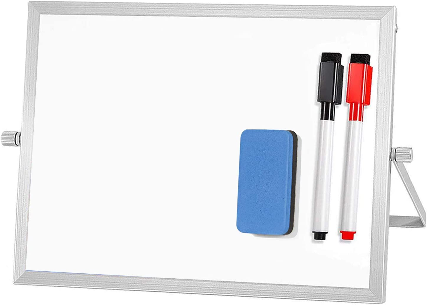 """ARCOBIS Small Desktop Dry Erase Board Portable Magnetic Double Sided Whiteboard Easel for Kids to Do White Board for Office, Home, School 12"""" X 8"""""""