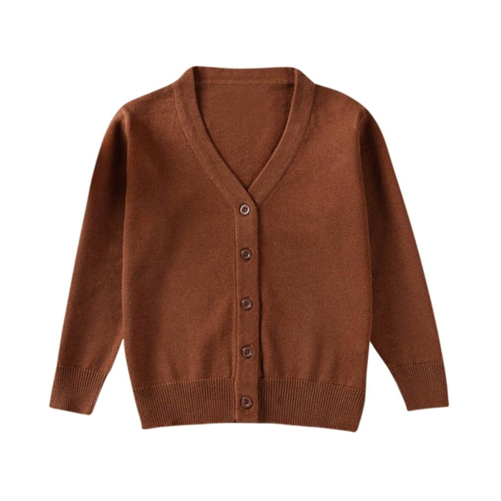 TONSEE Toddler Boys Girls Knitted Cardigan Button up Sweaters Cardigan Tops