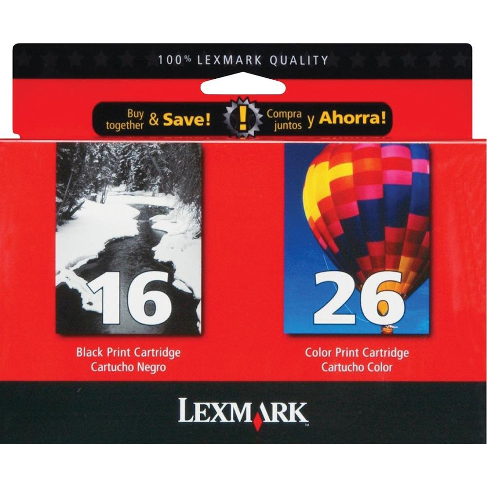 Color printing bu - Amazon Com Lexmark Twin Pack 16 26 Black And Color Print Cartridges 10n0202 Office Products