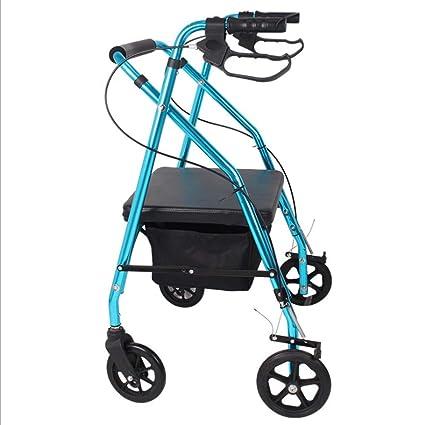 ADstore Andador para Ancianos de 4 Ruedas Rollator Deluxe ...