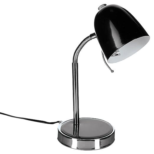Lámpara de mesa metal, color negro: Amazon.es: Hogar