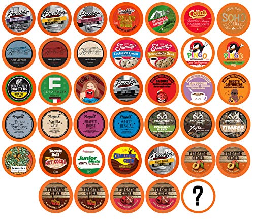 Two Rivers Coffee, Tea, Cocoa, Cider, Cappuccino Variety Sampler Pack Compatible with 2.0 Keurig K-Cup Brewers, Perfect…