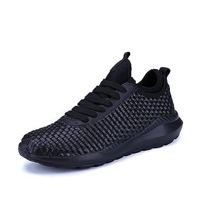 Homme Basket Chaussures De Course Run Masculines Respirante Sport Chaussures Noir Bjg5akJr0O