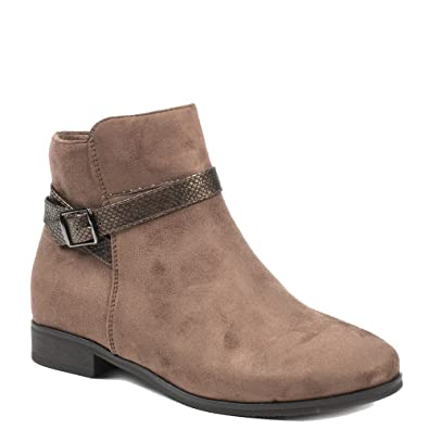 Ideal Effet Sangle Avec Reptile Shoes 38 Bottines Taupe Faly Daim xFr4xwZ