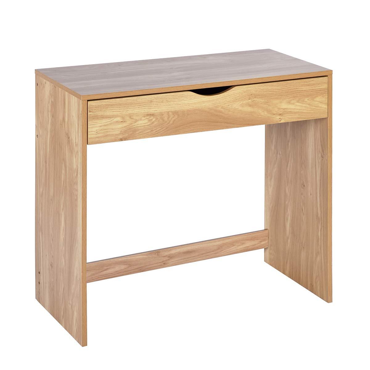 coavas studio scrivania casa scrivania scrittoio scrivania con 1cassetto trucco disegno scrivania per Adluts e bambini, eco truciolare, rovere