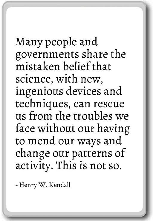 Imán para nevera con citas de Henry W. Kendall, Blanco: Amazon.es ...