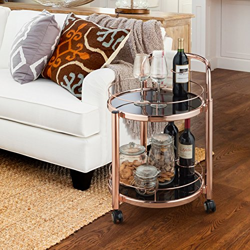 Furniture of America Cara Contemporary 2-tier Rose Gold Mobile Serving (Rose 2 Tier)