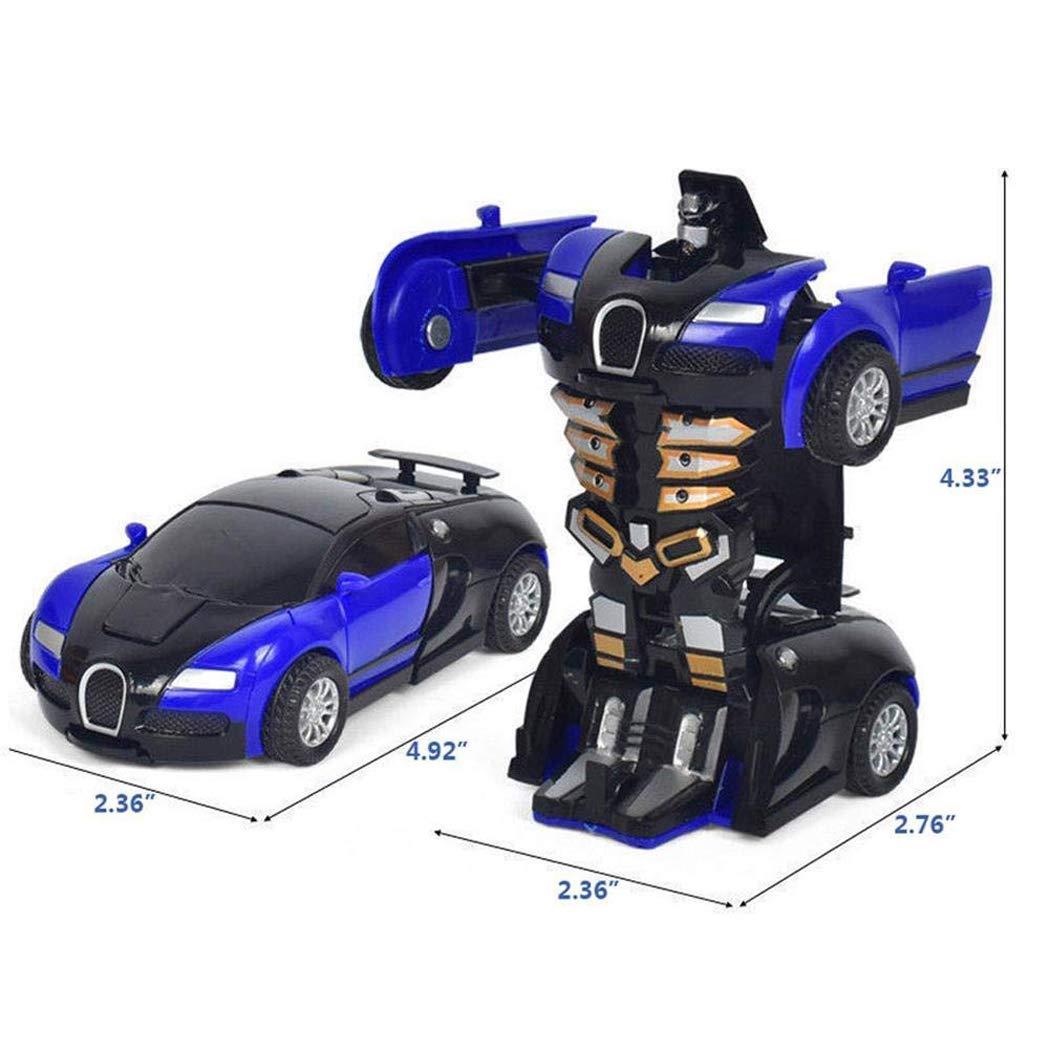 Cartoon Crash Deformation Transforming Robot Car Toy Kids Game Gift Electrical Safety (2pcs, Yellow&Blue) by Viedoct (Image #4)