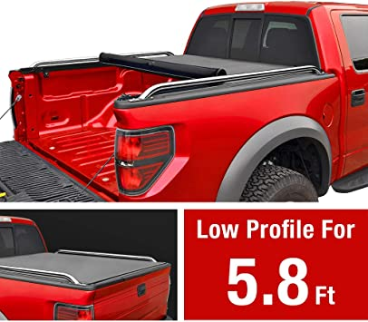 Amazon Com Maxmate Low Profile Soft Roll Up Truck Bed Tonneau Cover For 2009 2019 Dodge Ram 1500 2019 Classic Only Fleetside 5 7 Bed Without Ram Box Automotive
