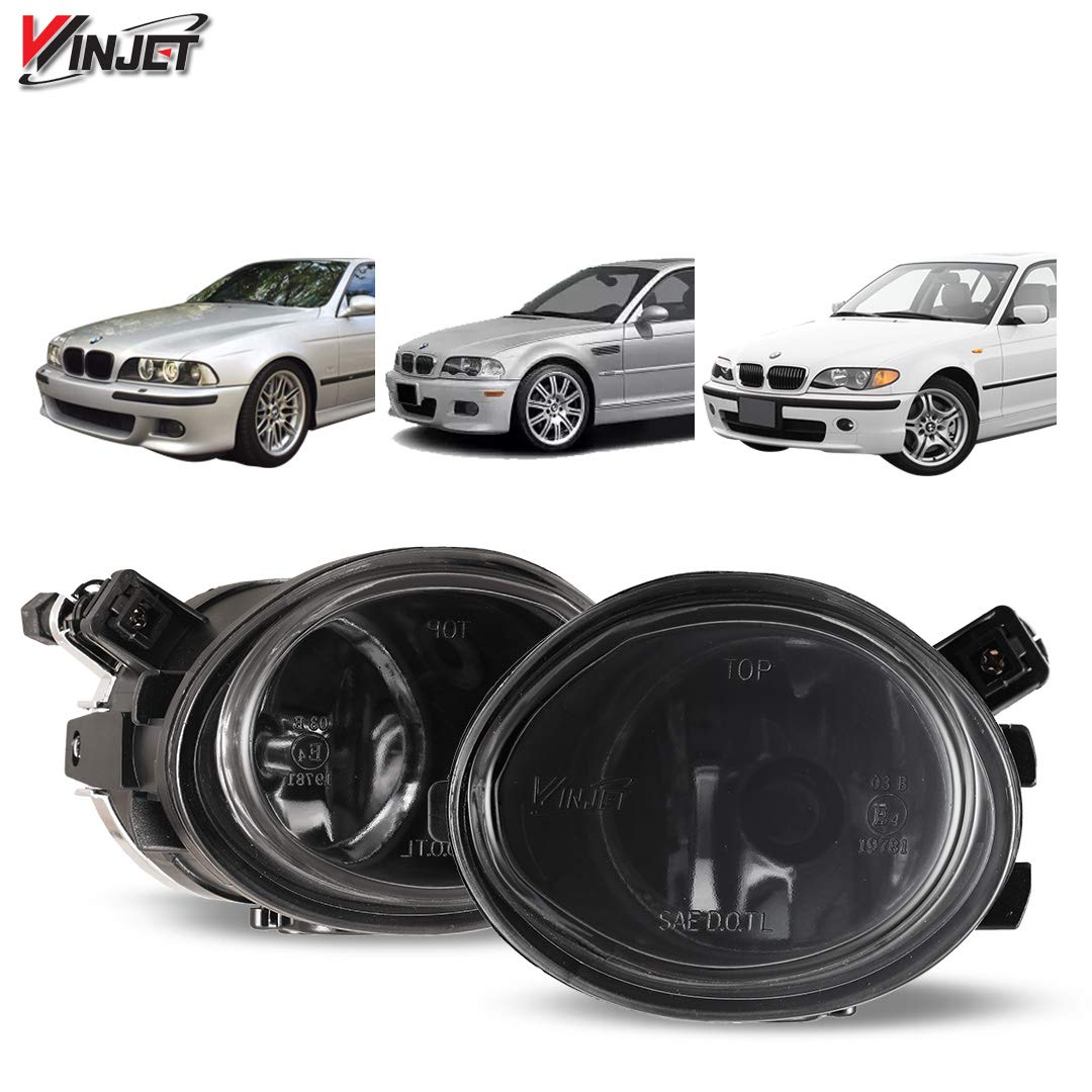 Fog Lights Fits 2001 2005 Bmw E46 Polycarbonate Resin Smoke Driving Running Foglight Foglamp Lamps Led Super Bright By Ikon Motorsports 2002 2003