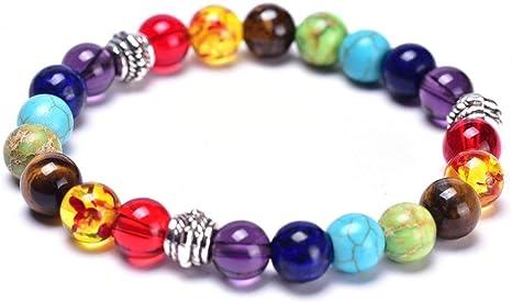 Rainbow Chakra Bracelet Set of 7 Luxury Gemstone Balancing Crystals
