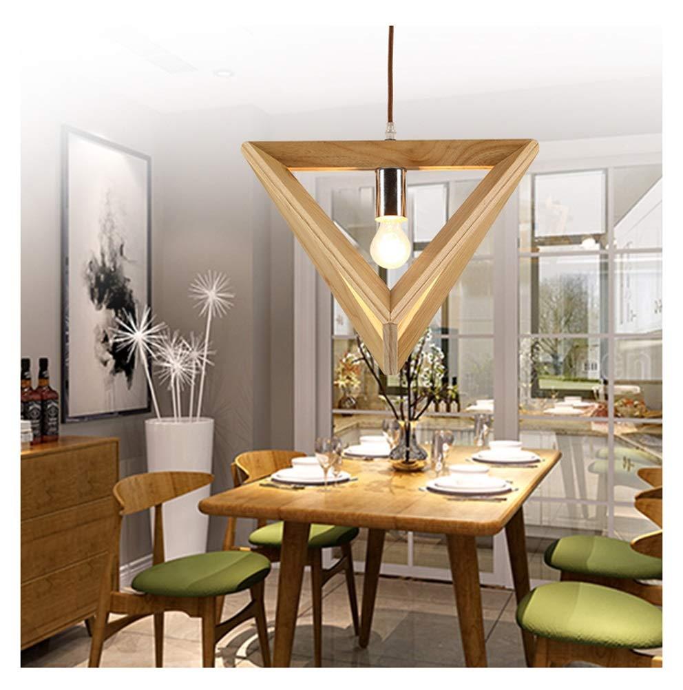 Light-S 北欧シングルヘッド木製廊下シャンデリアカジュアル純木展示ホール風チャイム照明クリエイティブルーム人格ペンダントライト   B07TWQQYXC