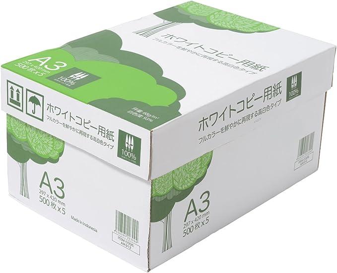 APP 高白色 ホワイトコピー用紙 A3 白色度93% 紙厚0.09mm 2500枚(500枚×5冊)
