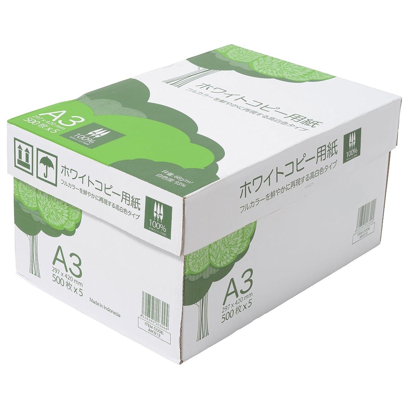 ソフィー概してジャンクションコピー用紙 A4 ホワイトコピー用紙 高白色 紙厚0.09mm 2500枚(500×5) ブランコ