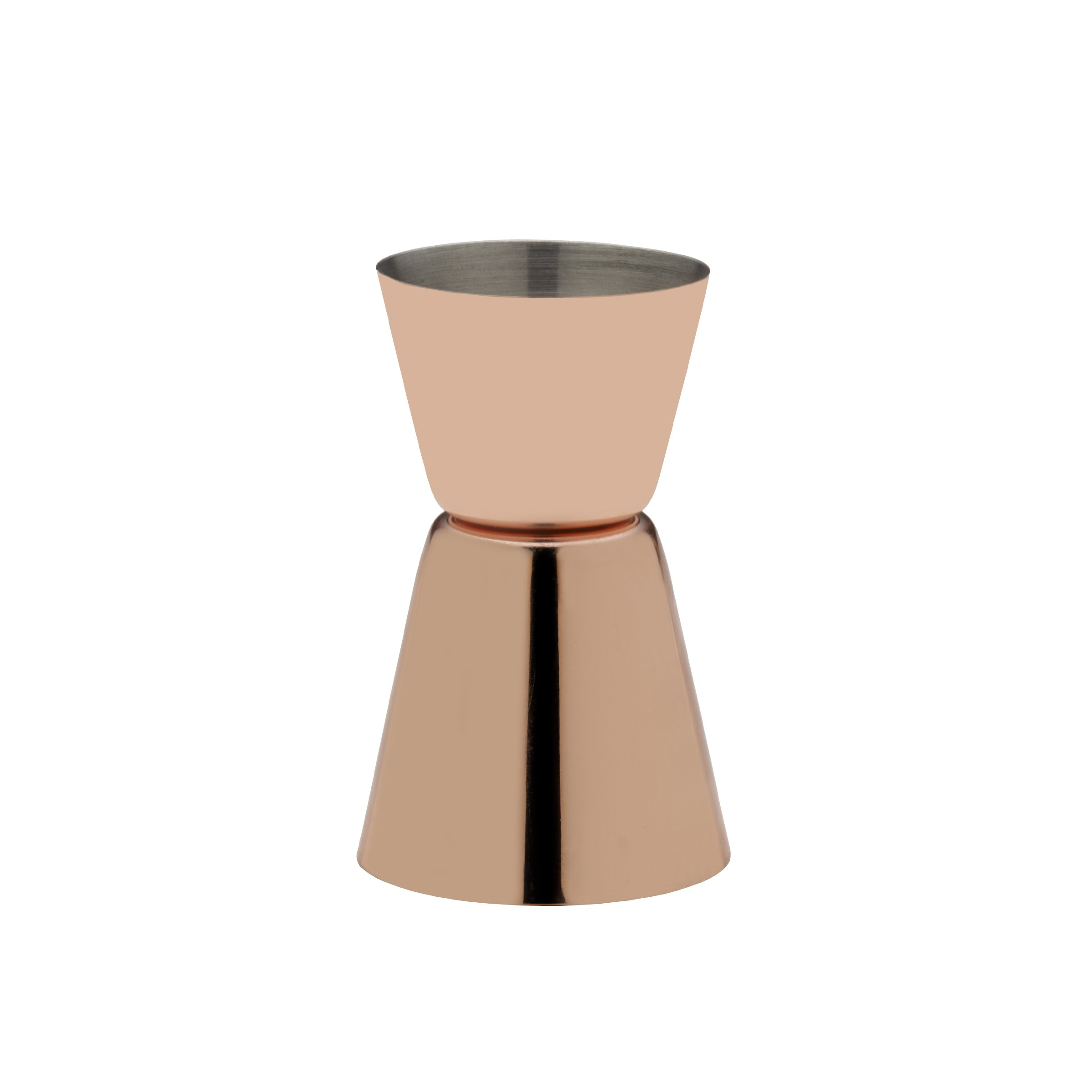 Towle Living Plated Double Jigger, Modernist Copper