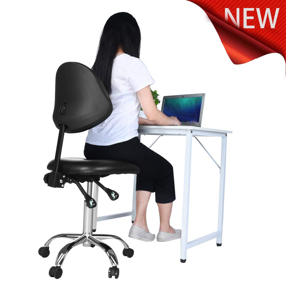 Sonmer Modern Simple Office Chair, with Adjustable Backrest,360° Free Rotation,Pulley Aluminum Alloy Prong Base, Explosion-Proof Chassis by Sonmer (Image #1)