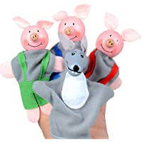 SMARTLADY Marionetas tres Cerditos y lobo Juguetes