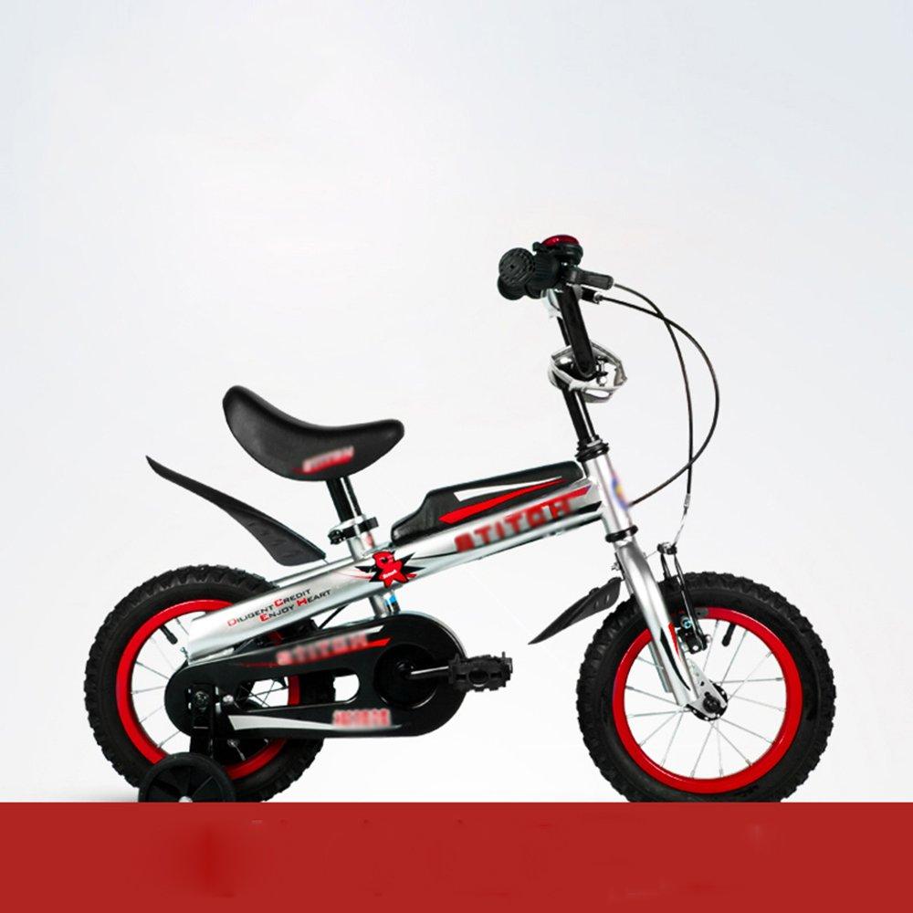 HAIZHEN マウンテンバイク 子供用自転車 トレーニングホイール付きの少年の自転車と少女の自転車 12インチ、14インチ、16インチ 子供用ギフト 新生児 B07C6RGRPJ 14 inches|赤 赤 14 inches