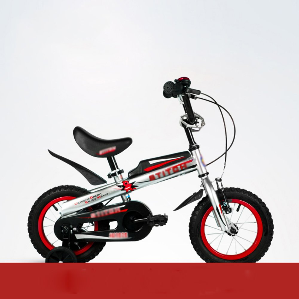HAIZHEN マウンテンバイク 子供用自転車 トレーニングホイール付きの少年の自転車と少女の自転車 12インチ、14インチ、16インチ 子供用ギフト 新生児 B07C6T8ZCC 12インチ|赤 赤 12インチ