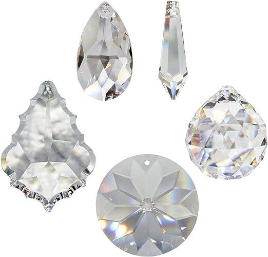 Booly 2 St/ück Kristalle Zum Aufh/ängen Kristall Prisma Sonnenf/änger Kristall Regenbogenkristall Fensterdeko H/ängend f/ür Innenfenster H/ängen und Gartendekoration