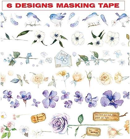 Fiori 5 Lettere.Kangboos Nastro Adesivo Decorativo Giapponese 5 Pezzi Con