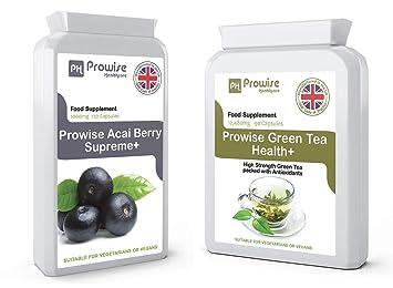 Acai Berry + té verde - suplementos de pérdida de peso, cápsulas de té verde