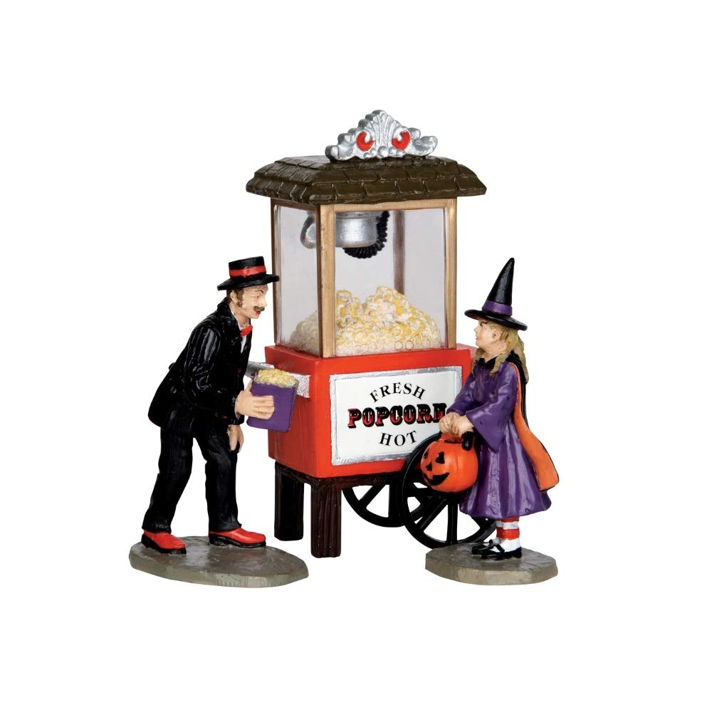 Lemax 32112 Popcorn Treats Spooky Town Figure Set of 3 Halloween Decor Figurine by Lemax