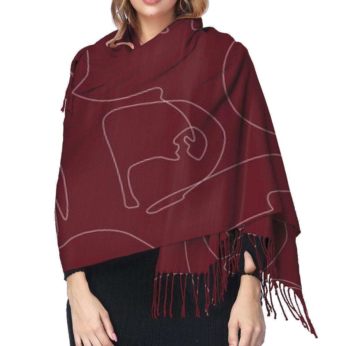 Mei-ltd Sciarpa avvolgente ricca e audace oversize coperta lunga sciarpa accogliente calda per inverno autunno 182,9 x 182,9 cm
