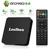 Android 9.0 TV Box, Leelbox 2019 Newest Android Box 4GB RAM 32GB ROM Quad-Core RK3328 Android TV Box Built-in 2.4G WiFi Supports 4K Ultra HD/BT 4.1/3D Movie/HDR10/USB 3.0/H.265 Decoding