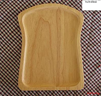 Wooden Plate Board Bread Shape from eco friendly natural solid rubber wood Size 6 * 8 inches