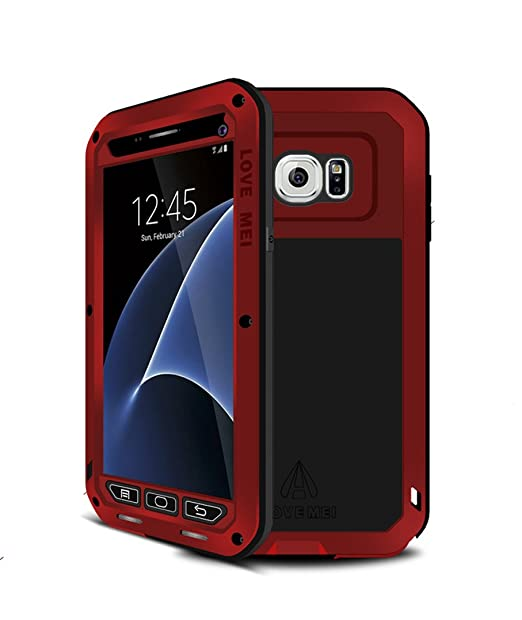 new arrivals f13df dee63 Galaxy S7 Case,Mangix Love Mei [Newest] Gorilla Glass Luxury Aluminum Alloy  Protective Metal Water Resistant Shockproof Military Bumper Heavy Duty ...