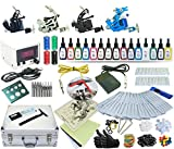 Complete Tattoo Kit 4 Machines Guns Set Equipment Power Supply 15 Color Ink TK20