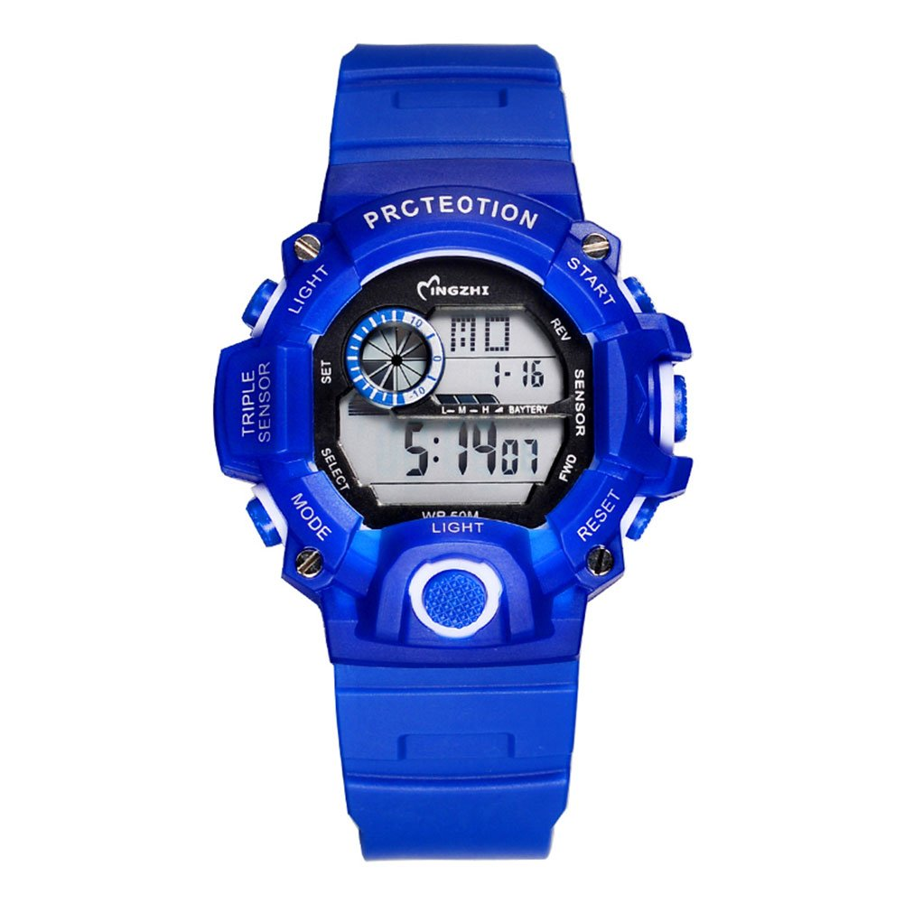 Kids Boys Girls Sport Watches Waterproof Shock Resistant Digital Stopwatches for Student Blue