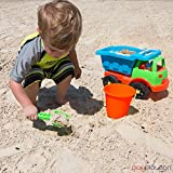 Sand Dump Truck Beach Playset - 7 Piece Kids Sand Toys Set for Boys & Girls